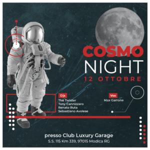 COSMO NIGHT - Sabato 12 Ottobre